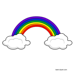 This Is A Free Clip Art Image Of Two Clouds And A Rainbow Clip Art Free Clip Art Clouds