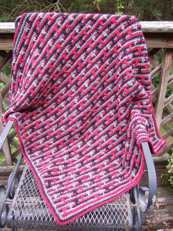 Dripping Lines Blanket Free Crochet Pattern By Heather Tucker