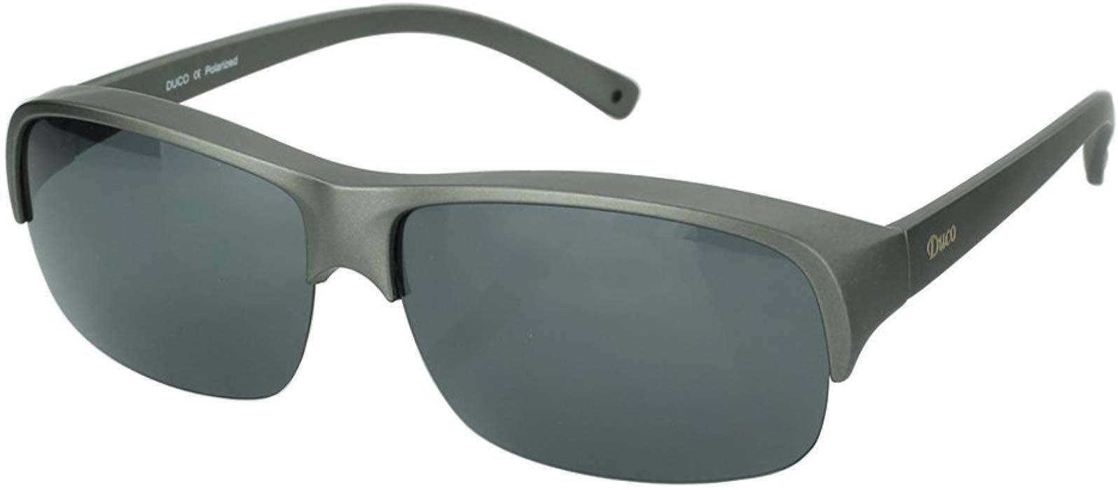 Duco POLARISED OVERGLASSES Wraparound Fit Over Glasses for Myopia 8953T
