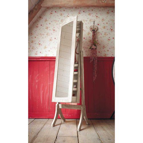 Specchio inclinabile portagioie in legno di paulonia ...