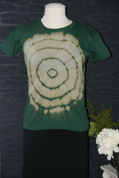 Batik Goes Fashion Einzigartiges Batik T Shirt (kurzarm) Im Trash Batik  Design.