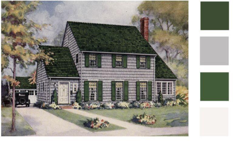 Best Dark Green Roof Gray Stain Shingles Pine Green 400 x 300