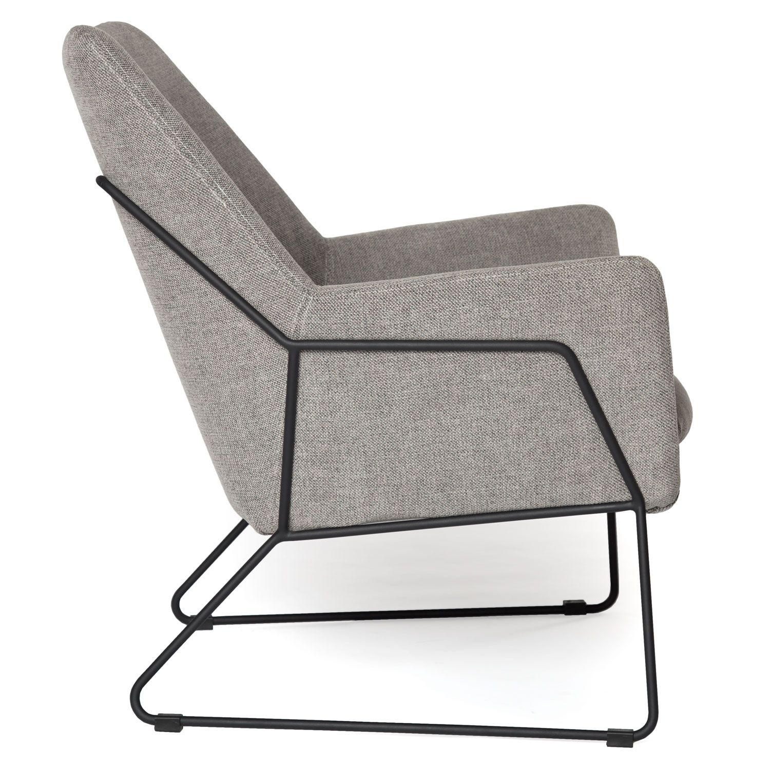 Retro Modern Lounge Chair Light Grey Fabric With Images Retro Lounge Chairs Modern Leather Chair Modern Easy Chair