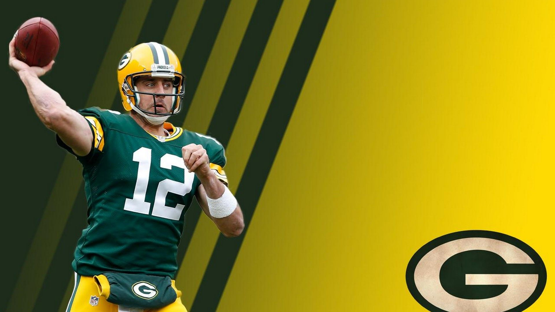 Hd Backgrounds Aaron Rodgers Football Wallpaper Football Nfl