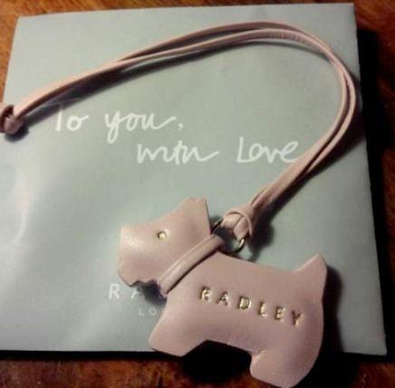 Radley Leather Pink Dog Tag For Handbag