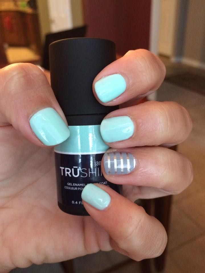 Gray & Silver Stripe wrap, and Fresh TRUshine gel by Jamberry Fresh ...