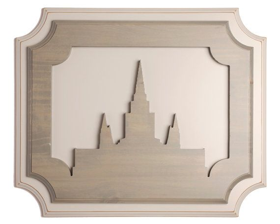 Oakland Temple Silhouette - Layered Wall Decor, Temple art, LDS art ...