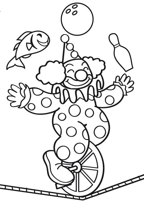 Circus Coloring Pages 16  Coloring pages for kids  Pinterest