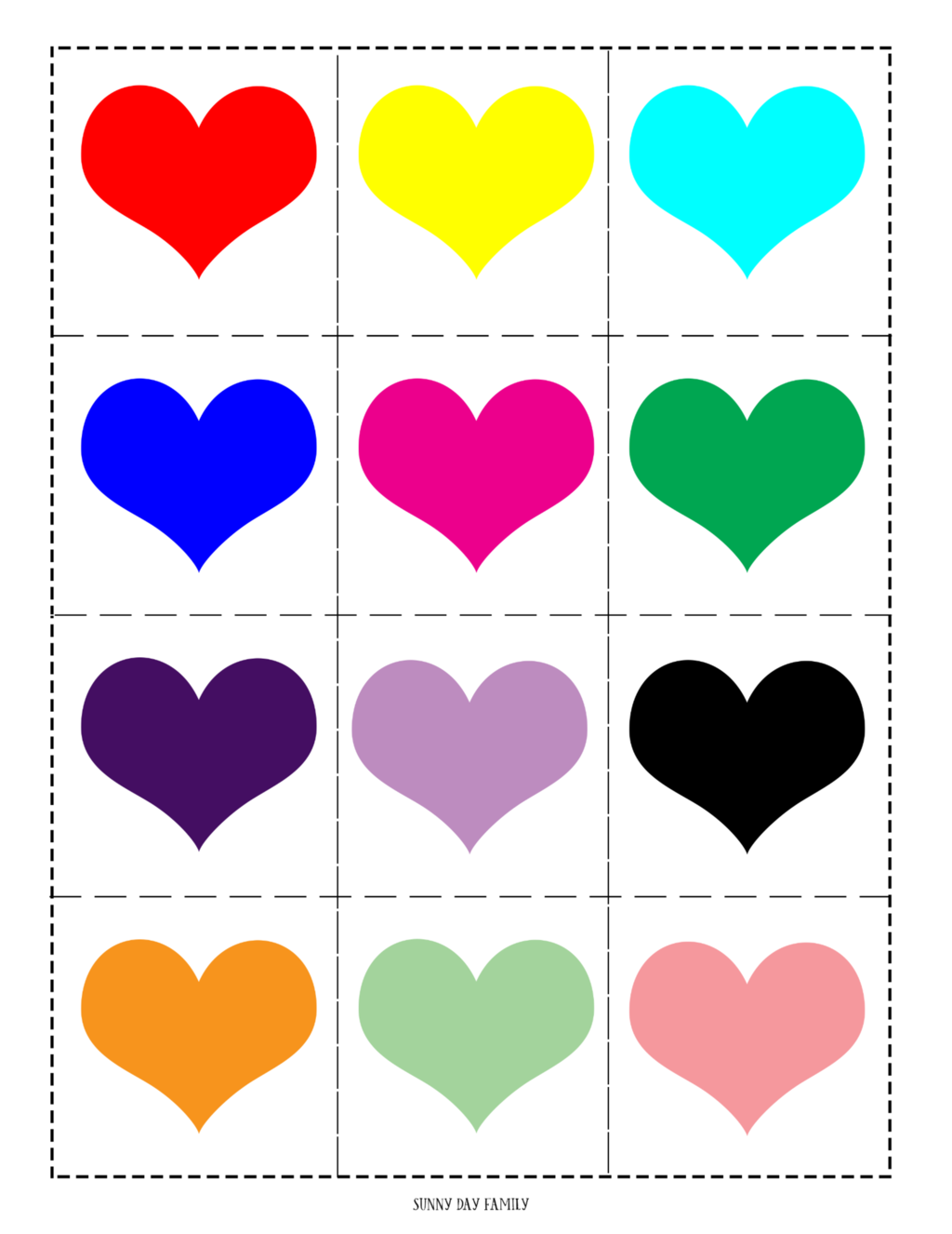 Free Printable Valentine Matching Game for Kids Free
