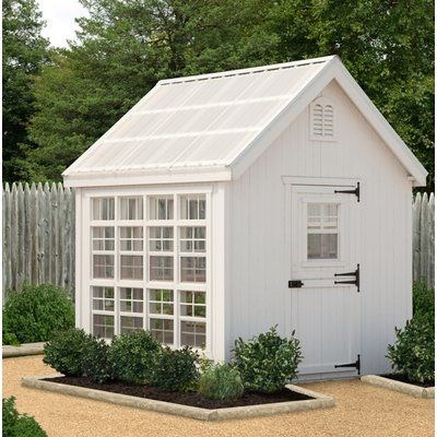 Little Cottage Company Colonial Gable 8 Ft W X 16 Ft D Greenhouse Wayfair Little Cottage Greenhouse Shed Shed Design