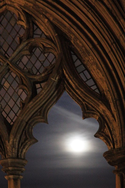 The moon from Norwich Cathedral.