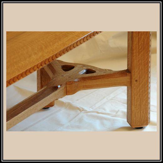 Barnsley Style Hay Rake Table Detail | Heller And Heller Custom Furniture