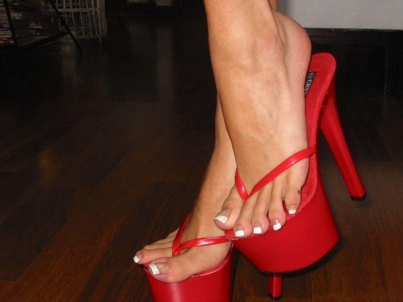 Dark Red Peep Toe Shoes