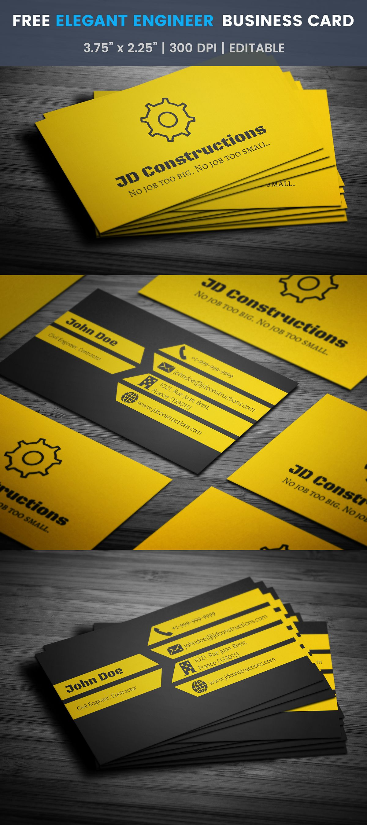 Free Construction Business Card Template On Student Show Pertaining To Constru Construction Business Cards Free Business Cards Business Card Templates Download