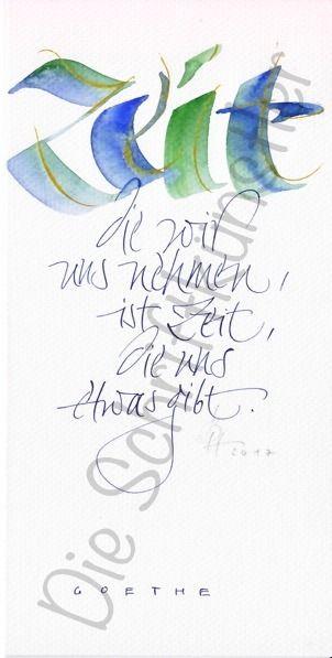 Zeit Hoch 2 Jpg 302 597 Schrift Karten Kalligraphie