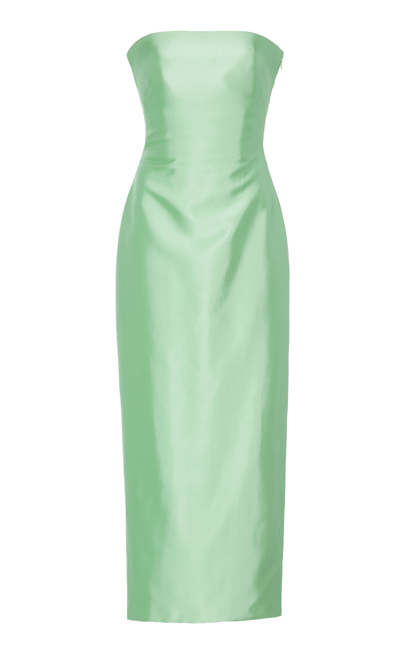 ffc0fe8c55c Strapless Knotted-Back Satin Cocktail Dress by BRANDON MAXWELL for Preorder  on Moda Operandi