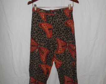 Vintage Clothing SALE Vintage 70's  Pants      butterfly print         high waisted          clothing clothes  womens women ladies