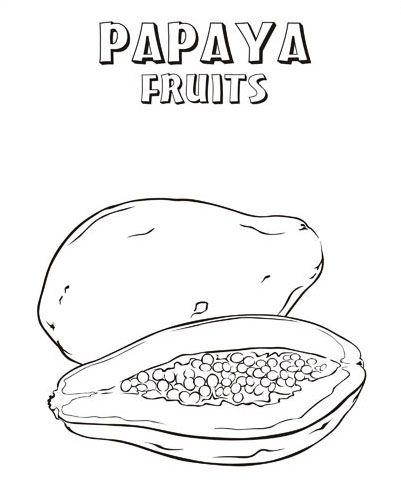 Free Papayas Coloring Pages Learn To Coloring Riscos Para Patchwork Letras Para Cartazes Frutas Para Colorir