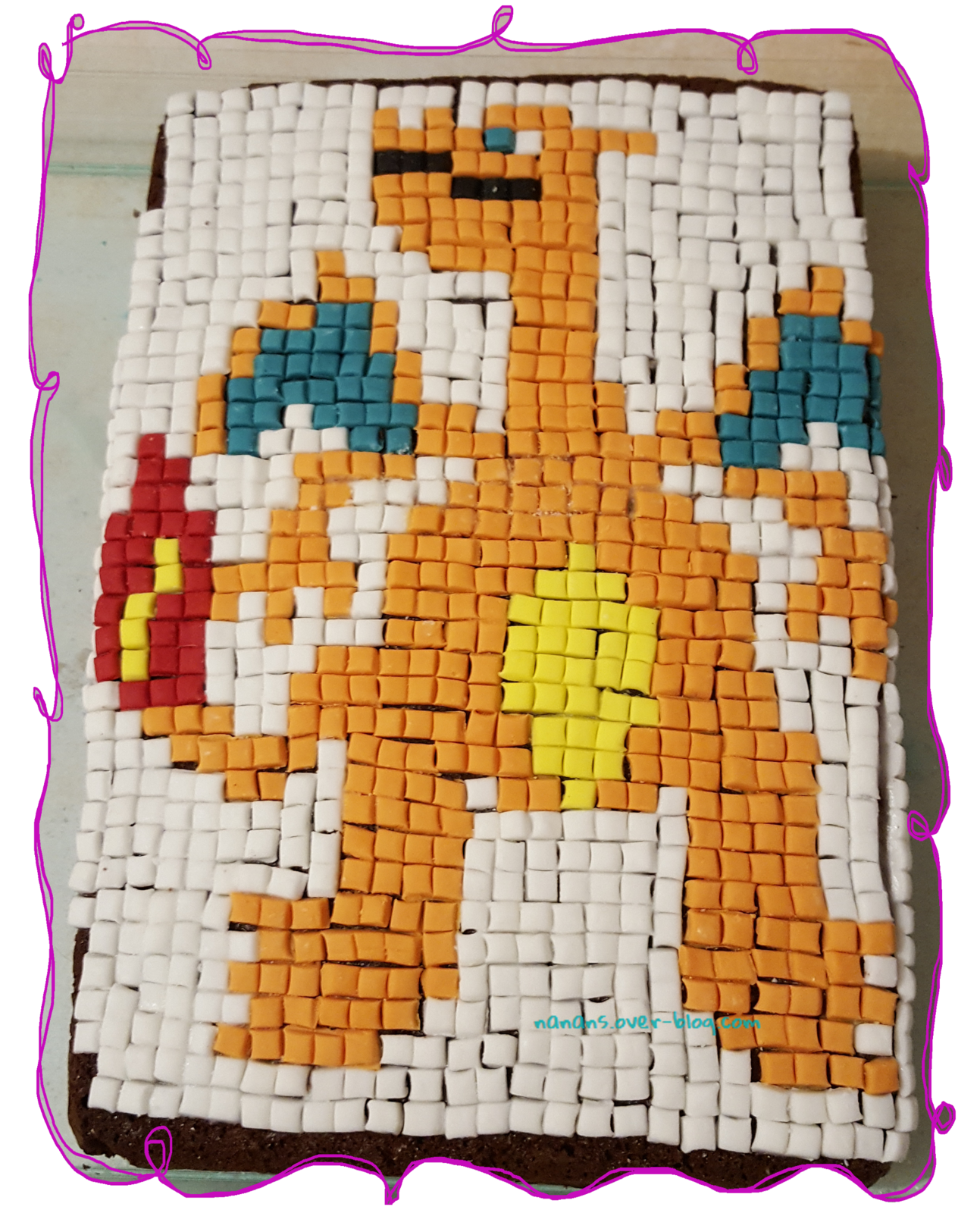 Gâteau Pixel Art Pokemon Dracaufeu Pixel Art Pokemon