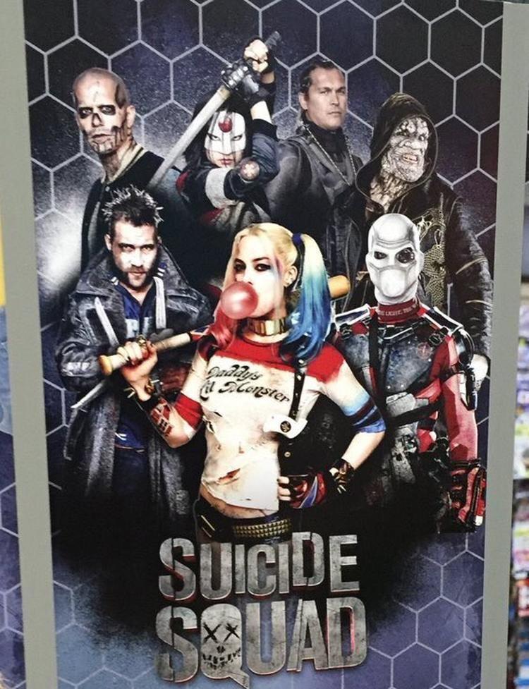 Esquadrao Suicida Novo Poster Mostra A Arlequina Frente A Equipe
