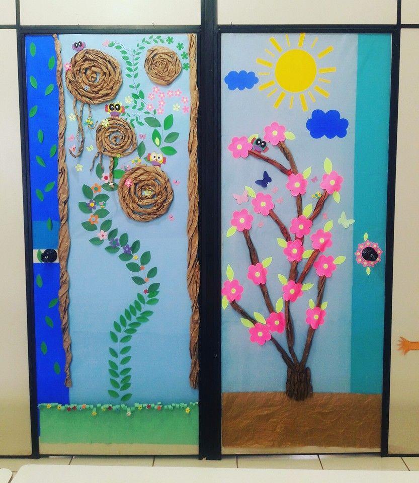 Que tal decorar as portas da sua escola para a chegada da Primavera? Tudo ficará…