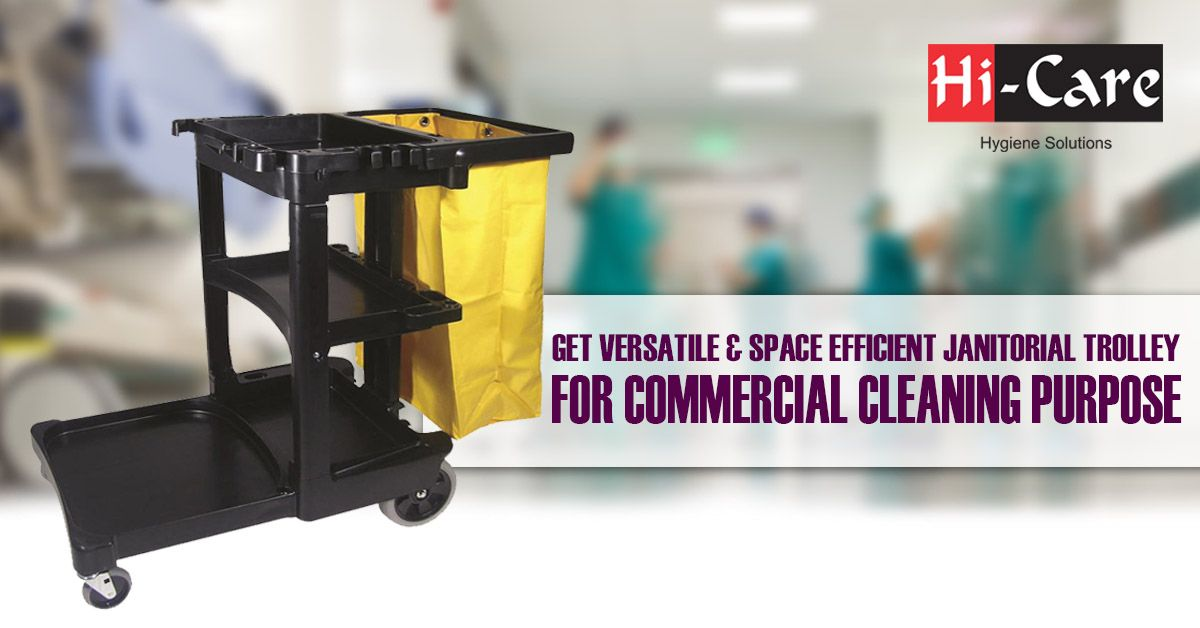 Janitorial Trolley Suppliers in Qatar | Industrial Cleaning