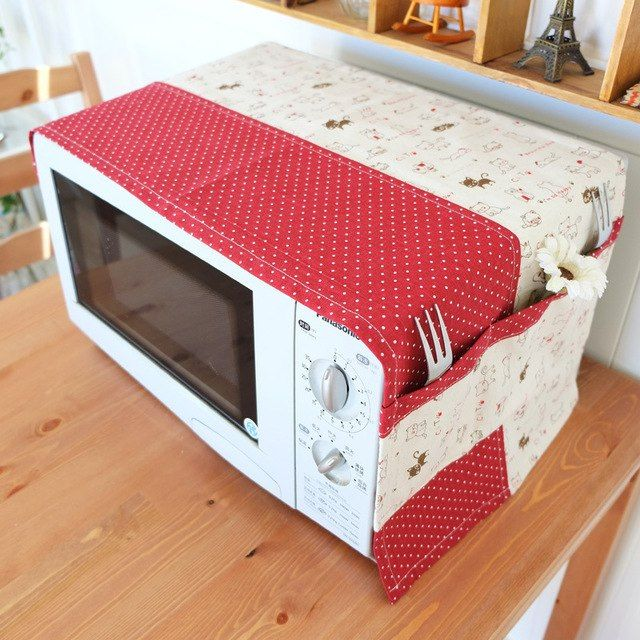 Cheap Kitchen Decor Sets: Linen Pachwork Cover, Microwave Oven/home Appliance