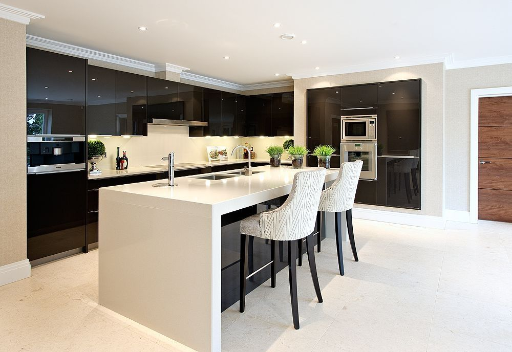 Extreme Design Penthouse kitchen. Contemporary, quality kitchen. Black and white…