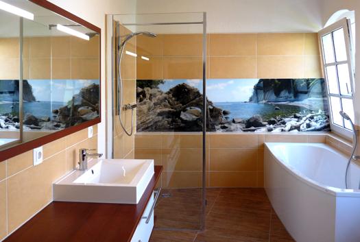 Glasbilder Fürs Bad hochqualitative glasbilder für alle naßbereiche glaspaneel in
