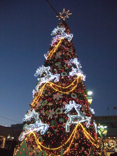 Christmas tree at Tama-Plaza Station, Yokohama, Kanagawa, Japan