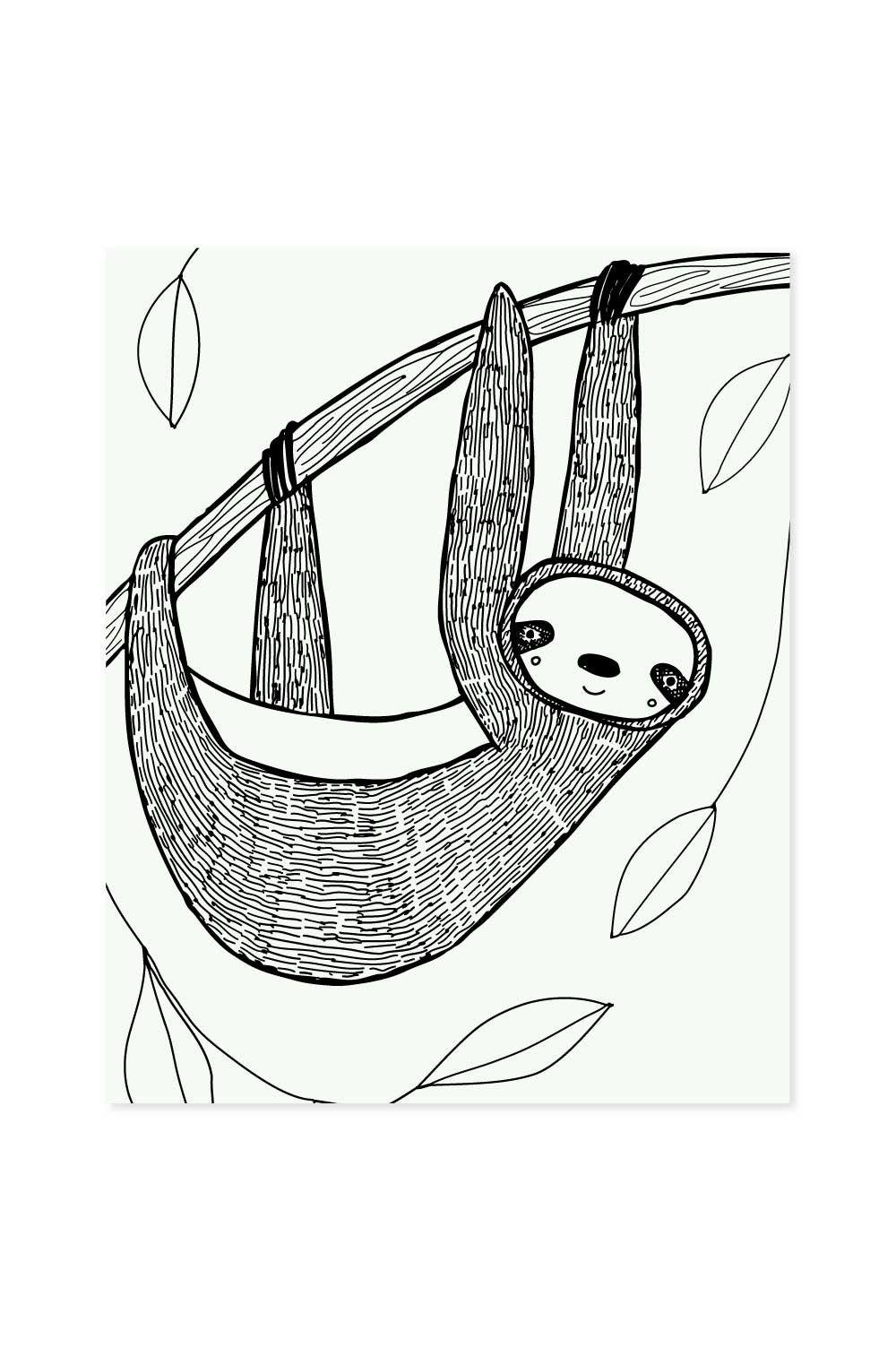 Sloth Art Print Sloth Art Art Prints Art