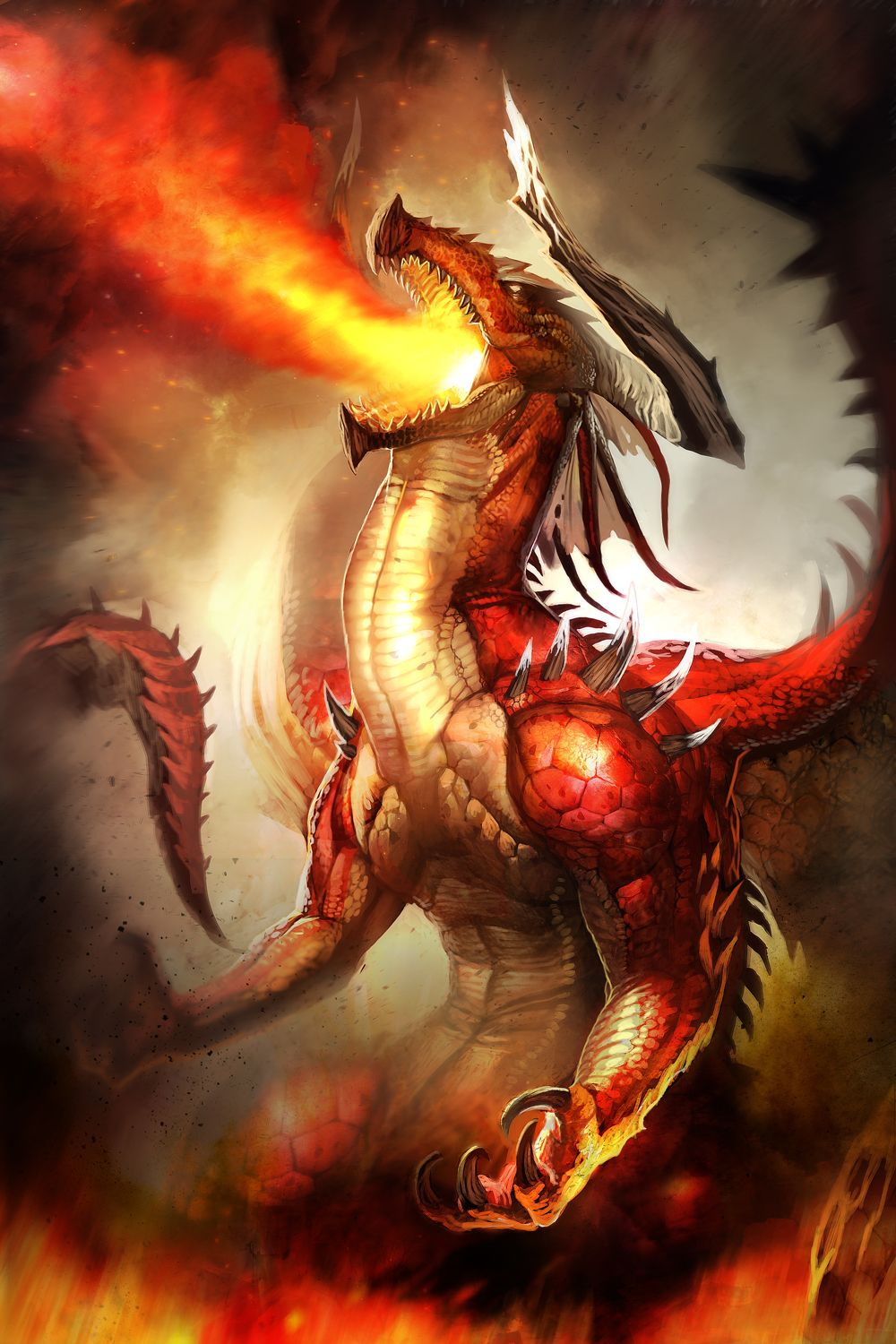 Red Fire Dragon: Because Red Dragons Are So Confident, They Seldom Pause To
