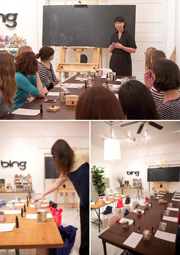 Maybelle Imasa-Stukuls teaching at Oh Happy Day Craft night, Sponsored by Bing! @Jordan Ferney