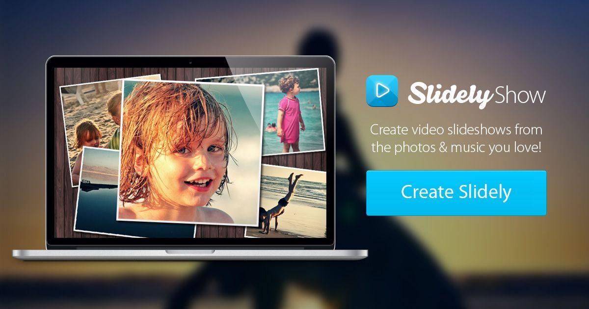Free online Photo Slideshow maker Slidely. Per crear