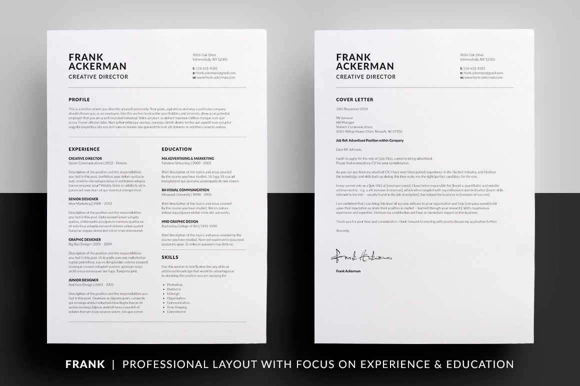 Resume Cover Letter Template 2018 Essential Resume Collection  Cv Cover Letter Resume Cv And Cover