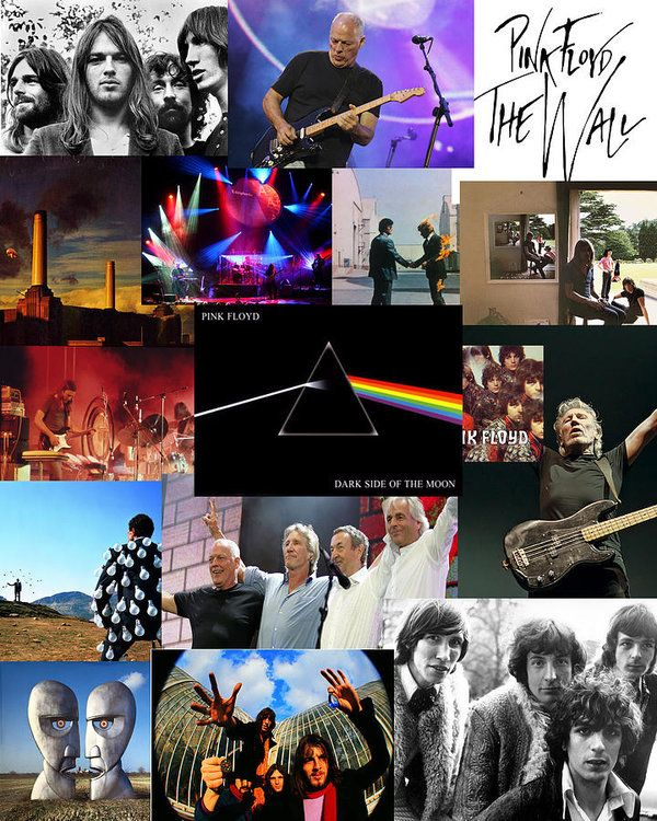 Pink Floyd Collage Art Print by Galeria Trompiz