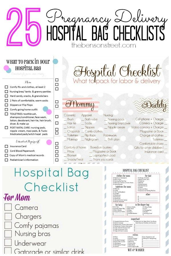 25 Pregnancy Delivery Hospital Bag Checklists At Tnsonstreet