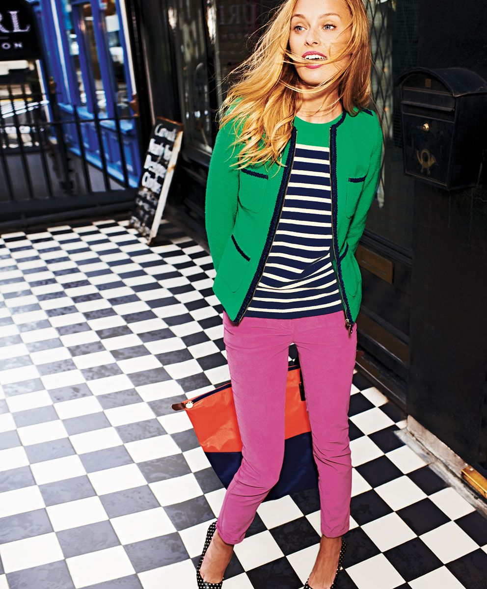Kelly Green Navy Strips And Pink Love The Bold Colors For Fall