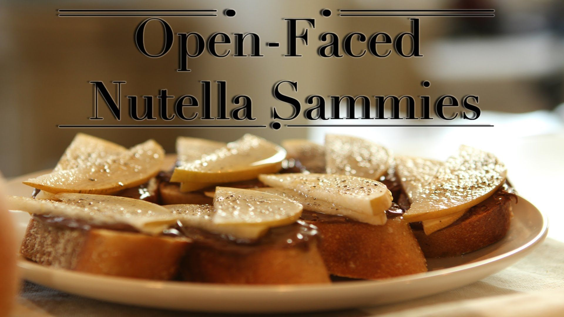 The Best Way to Eat #Nutella: On An Open-Faced Pear Sandwich