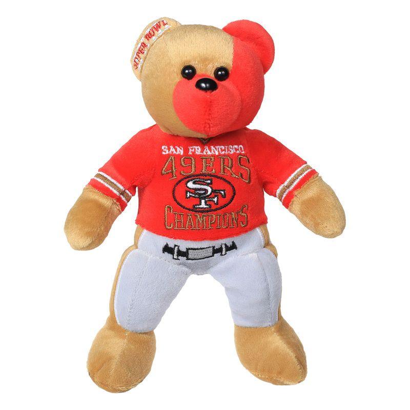 San Francisco 49ers Super Bowl XXIII Champions Thematic Bear