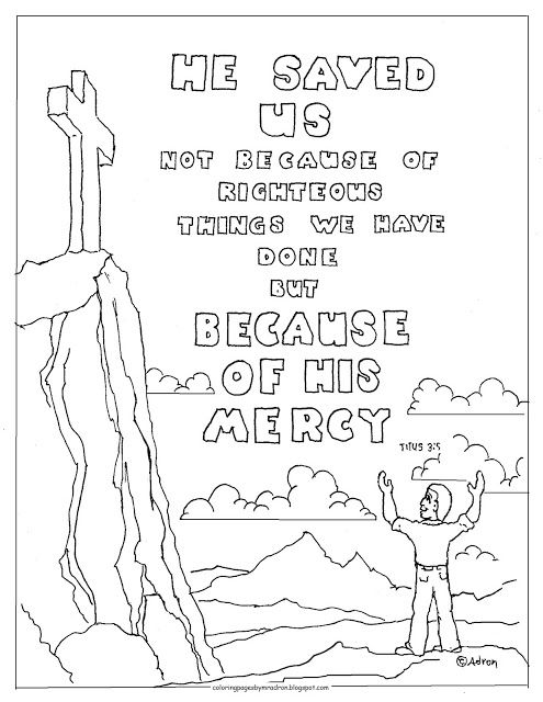 Coloring Pages For Kids By Mr Adron Titus 35 Printable Page With Verse