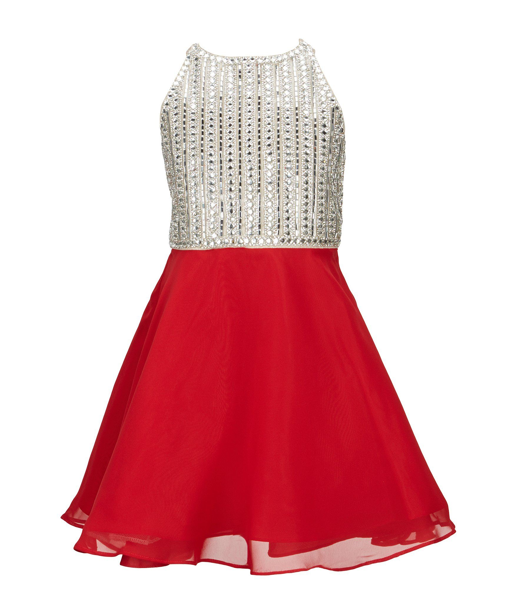 Tween Diva Big Girls 7-16 Rhinestone Fit-and-Flare Dress | Tween ...
