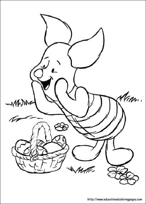 Winnie The Pooh Easter Coloring Page Disney Coloring Pages Cartoon Coloring Pages Coloring Pages