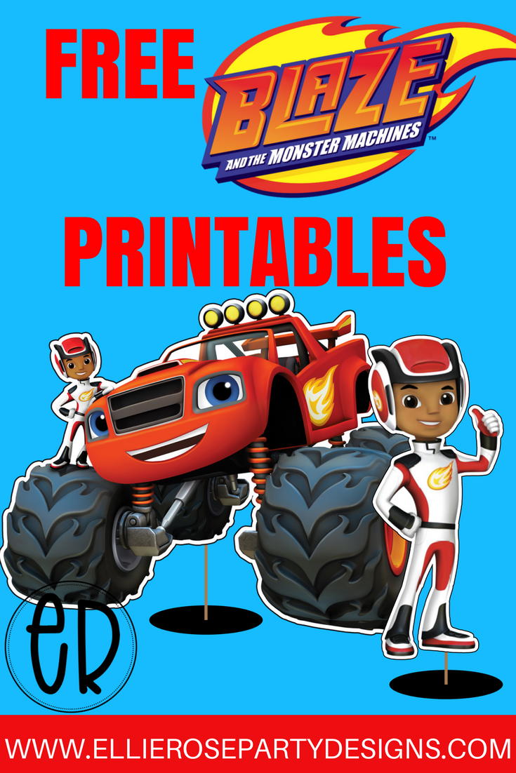 Blaze And The Monster Machine Printable Centerpieces