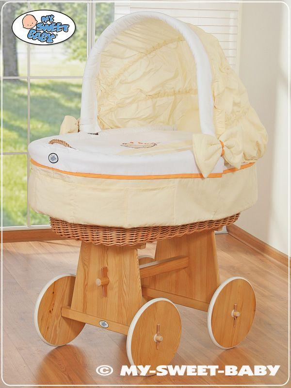 Beautiful Pick a Boo Wooden Wicker Crib