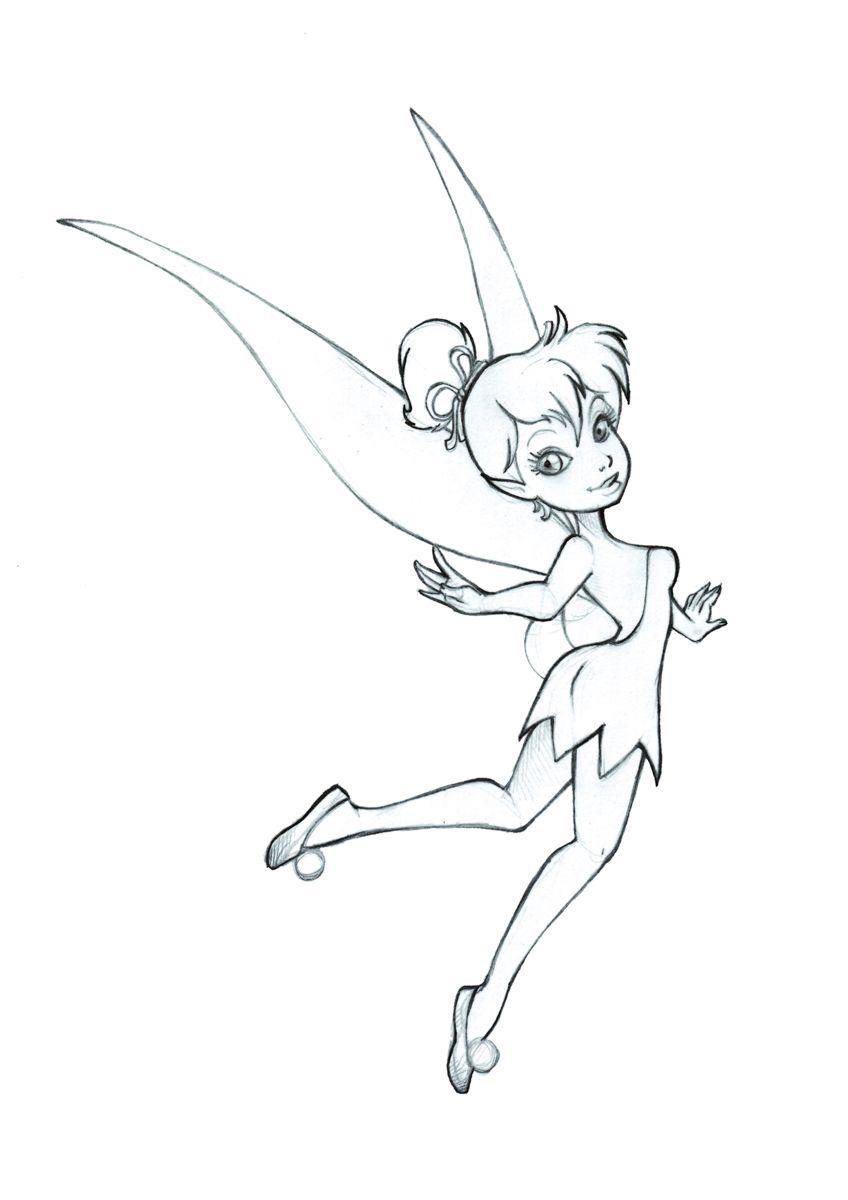 tinkerbell fairy drawing google search disney pinterest