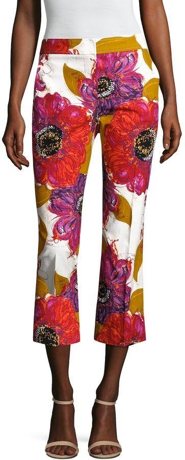 d013f5fa4d977 Trina Turk Women's Lutton Floral Printed Cropped Pant | Trina Turk ...