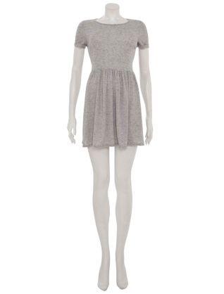 Warm Grey (Grey) Grey Skater T-Shirt Dress  97afdd30e85e
