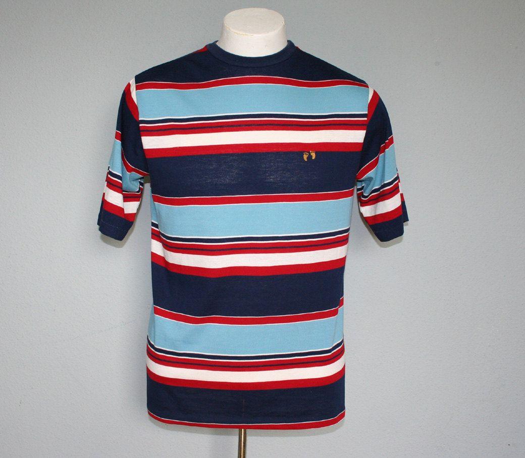 1970s HANG TEN / Men's Surf Stripe T-Shirt, M. $35.00, via Etsy.