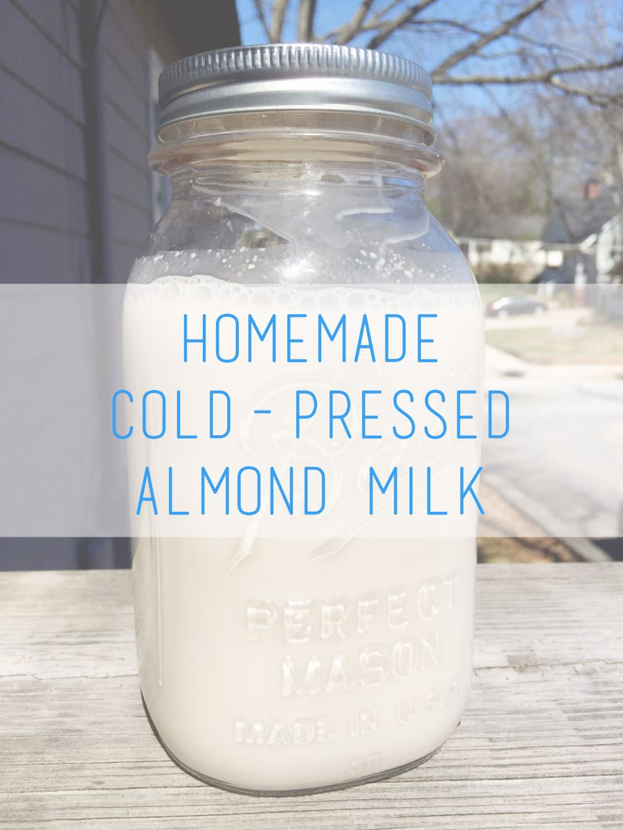 How to make your own coldpressed almond milk for really